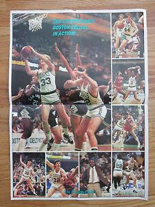 1986 BOSTON CELTICS Championship Poster LARRY BIRD KEVIN McHALE ROBERT PARISH DJ
