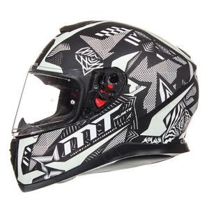 MT Thunder 3 Fractal Motorcycle Helmet Motorbike Crash Lid Glow In The Dark Bike