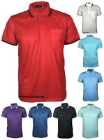 Mens Pique Polo Poly Cotton Summer T-shirt Casual Top Quality Longline Crew neck