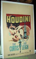 HOUDINI MOVIE POSTER Original 14x22 Inch 1953 PB WINDOW CARD TONY CURTIS