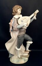 """~FREE Shipping~Lladro """"Little Troubadour"""" (1314 Mint Condition with Wooden Base)"""