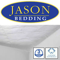 100% AUSTRALIAN COTTON Fill & Cover Fully Fitted Mattress Protector DEEP SKIRT
