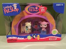 Littlest Pet Shop Light Up Dome Talent Show with Poodle #402 & Pony #403 RETIRED