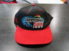 NEW VINTAGE Daytona 500 Snap Back Hat Cap Black NASCAR Racing 1997 Mens 90s