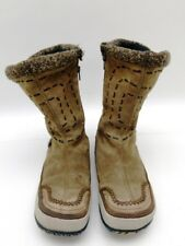 Merrell Puffin Lace High Brown Leather Winter Boots Women's Size 9.5 Insulated