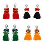 Bohemian Vintage Ethnic Boho Tassel Hook Drop Dangle Earrings Women Lady Jewelry