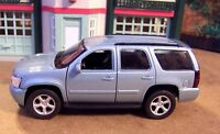 New Welly Approx. 1/43 Scale Diecast Metallic Light Blue Chevrolet Tahoe