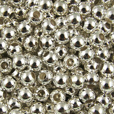 Wholesale lot Metal Round Spacer Beads Jewelry Craft DIY 2mm 3mm 4mm 5mm 6mm