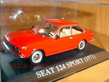 SEAT 124 SPORT RED 1971 1:43 MINT!!! INCLUDES BOX!!!!
