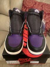 Nike Men's Air Jordan 1 Retro High OG Court Purple  - Size 10 💯 Authentic