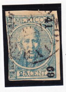 MEX 1868 25c #61 GUADALAJARA 41-69 OUT OF DISTRICT  (H2544)