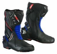 Mens Racing Boots Motorbike Motorcycle Waterproof Riding Leather Shoes CE Armour