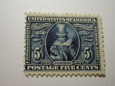 U.S. Scott #330 - 5 Cent Pocahontas 1907 Stamp /Hinged