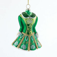 KURT S. ADLER GLASS IRISH DRESS STEP DANCING COSTUME CHRISTMAS TREE ORNAMENT