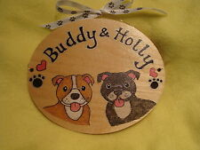 Personalised Staffordshire bull terrier Dog Kennel House Garden Run Sign Plaque