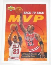1992/93 Michael Jordan Bulls NBA Upper Deck Back to Back MVP Art Card #67 NM