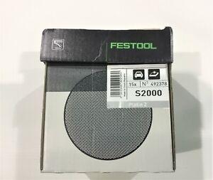 Festool P2000 492378 15 Discs/Box 90mm Dia Sanding Discs Loop Back S2000 Ro90 Dx