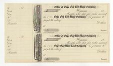 Uncut sheet Cape Cod Railroad Co. checks