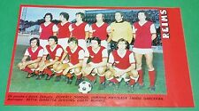 RARE CLIPPING FOOTBALL 1977 1978 STADE REIMS AUGUSTE-DELAUNE
