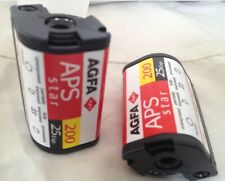 5x Agfa APS Star Color 200 / 25 Aufnahmen Advanced Photo System APS Film Camera