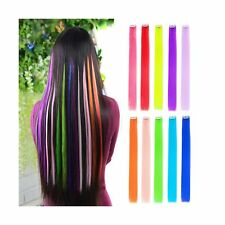"Colored Clip in Hair Extensions 22"" Straight Fashion Hairpieces"