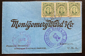 1919 Philippines Commercial Cover To Montgomery Ward Chicago IL UsA