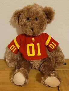 "FAO Schwarz Teddy Bear in Red ""USC"" Shirt Plush Toy Doll"
