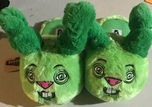 Fuggler Ugly Rabbit Slippers Green Scuffs L/XL Mens 9-11, Womens 10-12 - NEW