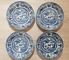 4 Antique Dutch blue Delft Plate Dish Wall Charger Wanli Kraak style CHINOISERIE