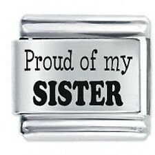 PROUD OF MY SISTER * Daisy Charm Fits Nomination Classic Italian Charms Bracelet