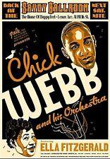Chick Webb Ella Fitzgerald Jazz Music 17x24 Poster Print Two And A Half Men