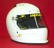 Impact Super Charger Air Racing Helmet White SA2015 Your Choice of size