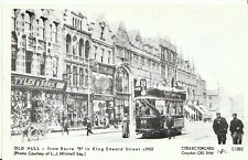 "Tram Postcard - Old Hull - Tram Route ""B"" in King Edward Street c1902   2668"