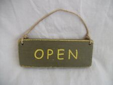 Open/Closed Wooden Hand Painted Business, Cafe,Shop, Sign.