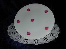 Limoges - D. Porthault 1 Frühstücksteller - Kuchenteller Herzen in Pink
