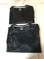 Two Real Essentials Xl Black Short Sleeve Shirts Nwt
