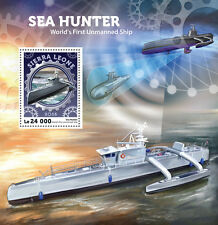 Sierra Leone 2016 MNH Sea Hunter 1st Unmanned Ship USV ACTUV 1v S/S Ships Stamps