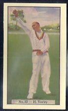 ALLEN (AUSTRALIA)-CRICKET (COLOURED) 1938-#33- YORKSHIRE - VERITY