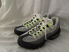 nike air max 95 Grey Anthracite Neon Running Shoes Women 8 NEW