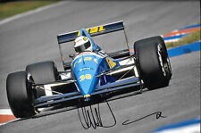 Christian Danner SIGNED 12x8 , F1 Rial-Cosworth ARC2 , German GP Hockenheim 1989