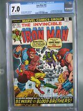 Iron Man #55 CGC 7.0 Marvel Comics 1973 1st app Thanos & Mentor