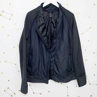 Prana Jacket Sz XL Black Full Zip Polar Breeze Quilted Water Repellent Insulated