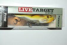 "koppers live target bass topwater surface walking frog 4 1/8"" 5/8oz green sienna"
