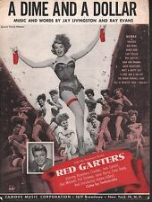 A Dime and A Dollar 1953 Rosemary Clooney in Red Garters Sheet Music
