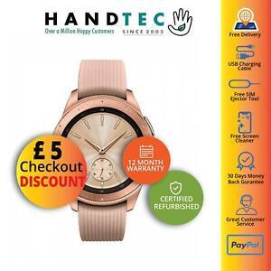 Samsung Galaxy Watch 42mm 4G R815 Android Smartwatch, Rose Gold - Grade B Good