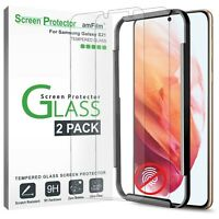 """amFilm (2 Pack) Tempered Glass Screen Protector for Samsung Galaxy S21 (6.2"""")"""