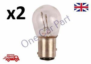2x BRAKE STOP TAIL LIGHT CAR BULBS TWIN FILAMENT 380 12V 21/5w