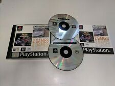 * Sony Playstation One * DOUBLE NEED FOR SPEED PORSCHE 2000 + MOTO RACER 2 * PS1
