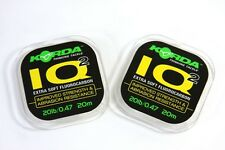 Korda IQ & IQ2 Flurocarbon Hooklink 20m *All Breaking Strains* Carp Fishing NEW