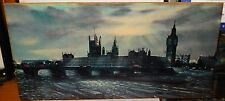 "H.MOSS ""BIG BEN"" LONDON AT DAWN LARGE COLOR LITHOGRAPH FRAMED"